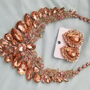 Jewelry - Exquisite Peach and Pink earrings